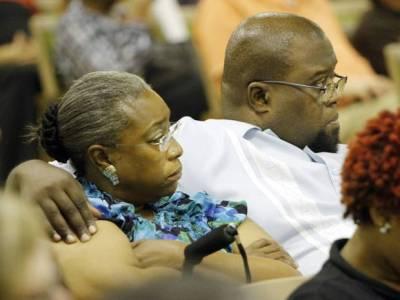Carmen Jackson and her husband Jesse Jackson a former teacher at Marcus Garvey Leadership Academy