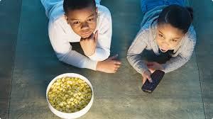 black children watching tv 1