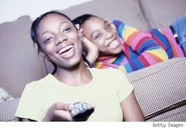black kids watching tv. black children watching tv 2 kids l