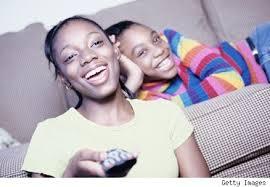 black kids watching tv. black children watching tv 2 kids l