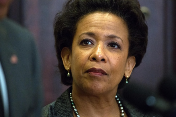 Loretta Lynch, is nominated by President Barack Obama as attorney general, in Washington.